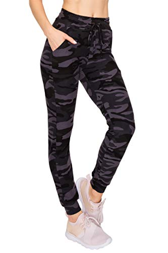 ALWAYS Women's Camo Jogger Pants - Skinny Fit Premium Soft Lightweight Stretch Pockets Sweatpants 153 M