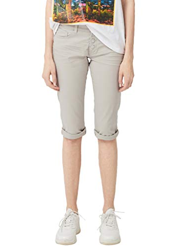 Q/S designed by - s.Oliver Damen Catie Slim: Coloured Capri-Denim Latte 36