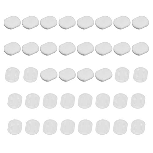 EXCEART 40pcs Earring Pads Silicone Earring Cushion Earring Backs Ear Protection for Clip on Earrings Accessories 14x12mm