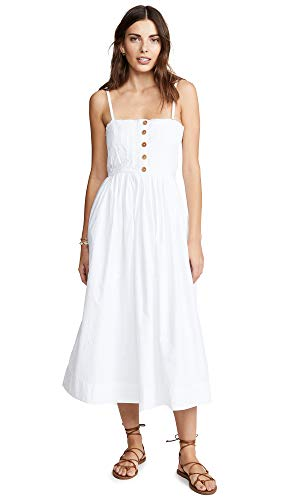 Free People Women's Lilah Pleated Tube Dress, White, Large