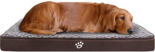 GoFirst Dog Beds Large Washable, Eggshell Foam Orthopedic Dog Bed with...