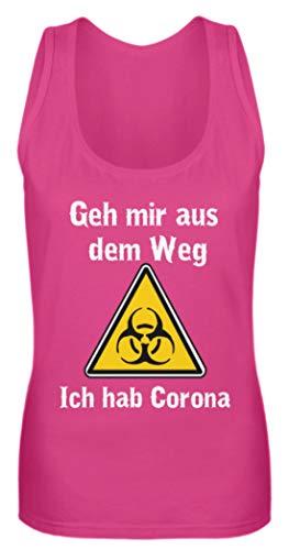 Generisch GEH Mir aus Dem WEG - Ich hab Corona š Coronavirus Corona-Virus - Camiseta de Tirantes para Mujer Pinky M
