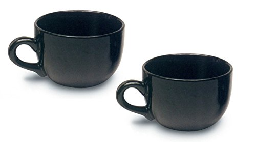 Jumbo Extra Large Coffee Mug & Soup, Black