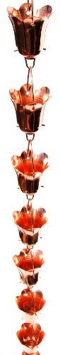 Stanwood Rain Chain Tulip Flower Blossom Extension Copper Rain Chain, 4-Feet