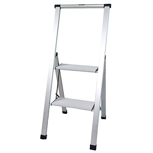 Xtend & Climb SL2HLight Slimline 2 Step Ladder, Aluminum