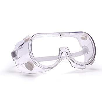 Safety Goggles Clear Anti Fog Lens Protective Eyewear Lab Safety Splash-proof fit over Glasses For Adult Work