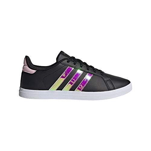 adidas COURTPOINT, Chaussures de Tennis Femme, NEGBÁS/IRIDES/ROSCLA, 39 1/3 EU
