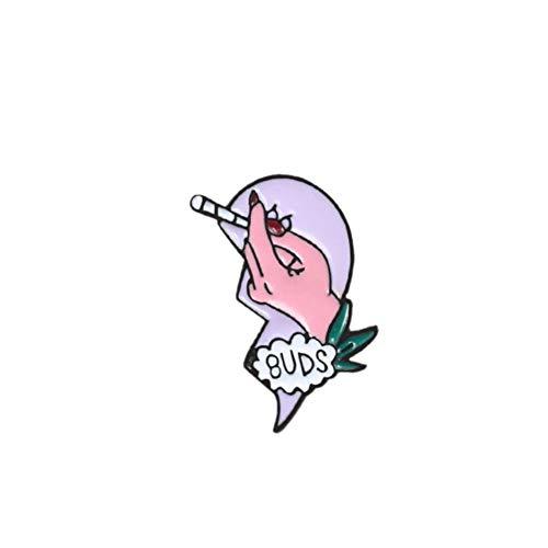 2 Unids/set Best Friend Esmalte Denim Broches de solapa Pines Best Buds Broken Heart Puzzle Humo Cigarrillo Mechero Collar Insignia Joyería-Derecha, China