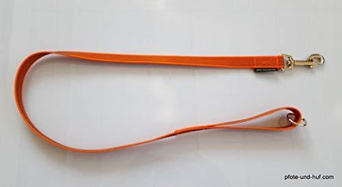 elropet Gummierte Hundeleine 1m mit Handschlaufe u. Ring orange