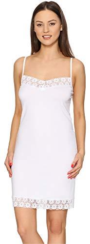 Merry Style Combinación Vestido Interior Mujer MS10-400 (Blanco, S)