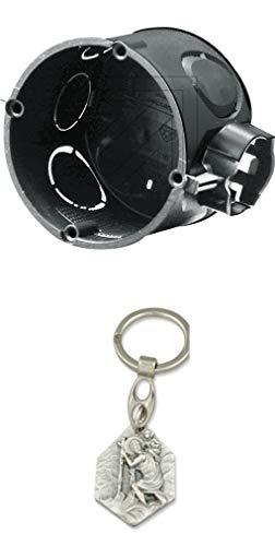 25er Pack EGB Kombi-Schalterdose 60mm ohne Schrauben mit Anhänger Hlg. Christophorus