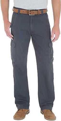 Wrangler Mens Ripstop Cargo Pants 38W x 34L Navy Blue