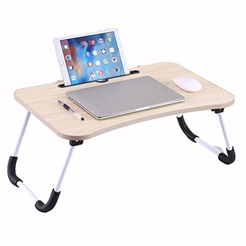 HYCy Lap Desk Soporte Plegable Tableta multifunción con Bandeja de Desayuno para Comer, Computadora portátil Lectura Escritura en la Cama Sofá Sofá Piso (Blanco)