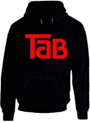 Tab Cola Retro 80s Soft Drink Black Hoodie Size M