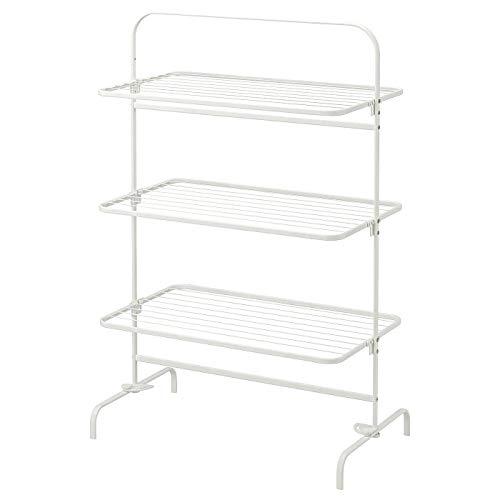 IKEA MULIG Wäscheständer 3 Etagen außen weiß