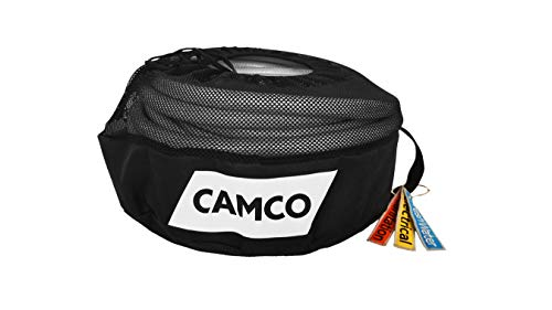 Camco RV Equipment Storage Utility Bag with Identification Tags for Organization - Conveniently Stores Electrical Cords, Fresh Water Hoses and Sewer Hoses(53097)