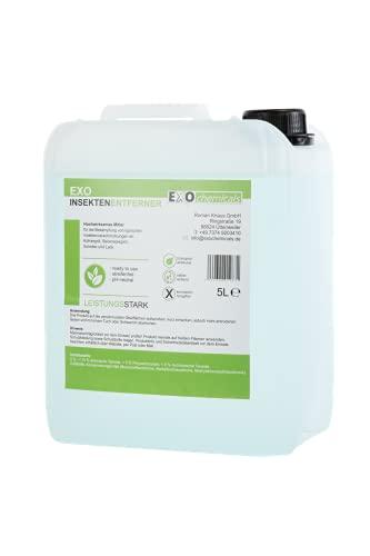 EXOCHEMICALS 5 Liter Insektenentferner   sofort wirkend, rückstandsfrei & pH-neutral (5 Liter)