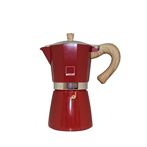 Gnali & Zani VEZ006/IND/RED Espressokocher, Aluminium, rot
