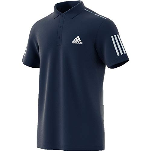 adidas Herren Club 3STR Polo, Maruni/Blanco, XL