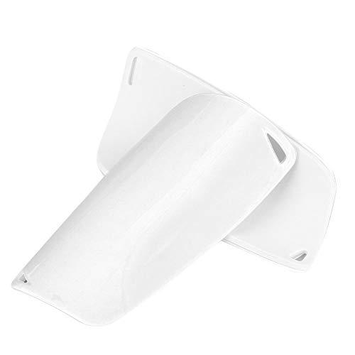 1 Paar Fußball Schienbeinschoner Leichte und Atmungsaktive Fußballausrüstung für Fußballtraining(L-Weiß)