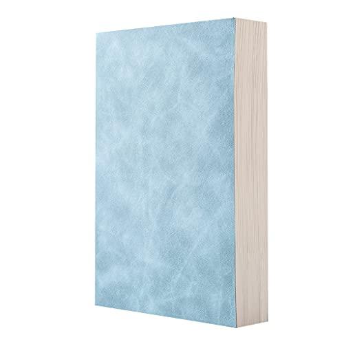 DONTHINKSO 210 Hojas de Cuadernos A5 Pesados, Bonitos Diarios, Cuaderno de bocetos, Registros de reuniones de Negocios Escolares, Regalos para Estudiantes, Profesores, Adultos, Color Azul