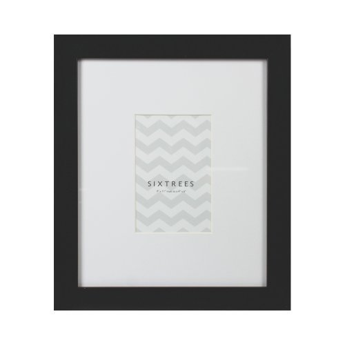 Sixtrees USA Matted Frame, 4 by 6-Inch, Black by SixTrees USA Ltd.