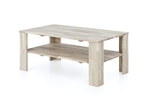 Möbelfreude Doluna Couchtisch Wohnzimmertisch Belania Eiche Bianco Massivholz geölt 1000 x 595 x 440 mm