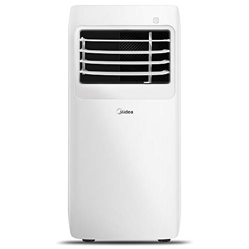 MIDEA MAP08R1CWT 3-in-1 Portable Air Conditioner, Dehumidifier, Fan, for Rooms up to 150 sq ft, 8,000 BTU (5,300 BTU SACC) control with Remote , White