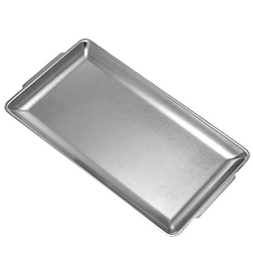 DOITOOL Stainless Steel Baking Pan Tray Cookie Sheet Baking Sheet Non Toxic Healthy Duty Dishwasher Safe Easy Clean Silver