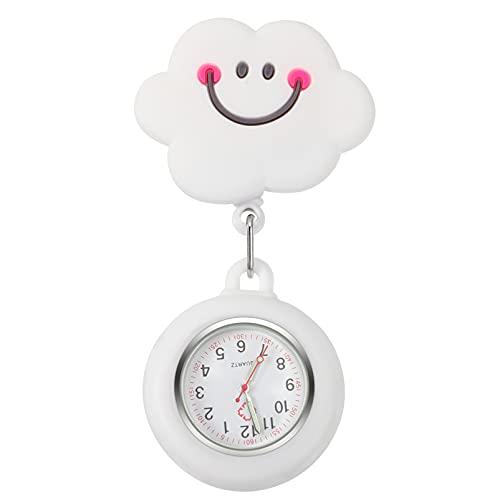 POPETPOP ナースウォッチ 懐中時計 師 時計 逆さ文字盤 ポケットウォッチ 男女兼用 数字 見やすい 曇