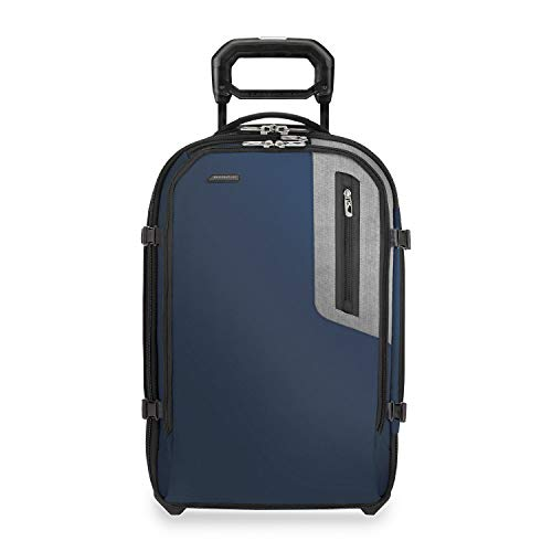 Briggs & Riley BRX-Explore Softside Expandable Carry-On Upright Luggage, Blue