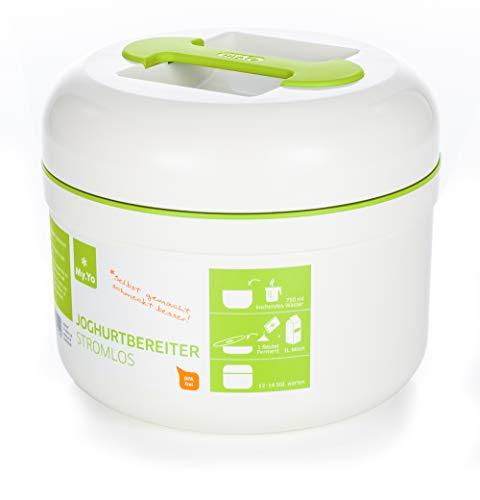 My.Yo - Joghurtbereiter ohne Strom | Farbe Creme/Limette | Inkl. 2 Beutel Bio-Fermente