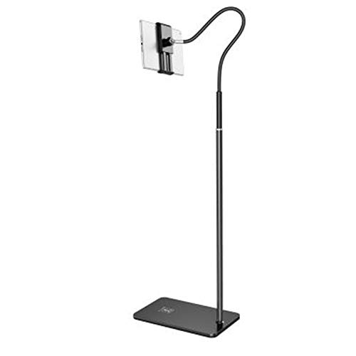 ANLONGLI Stand for Tablet Non-Slip Cushion, Tablet Stand Adjustable Height (91 cm - 150 cm) Compatible with iPad Mini Air Pro All Mobile Phones (3.5 inch - 10.6 inch)