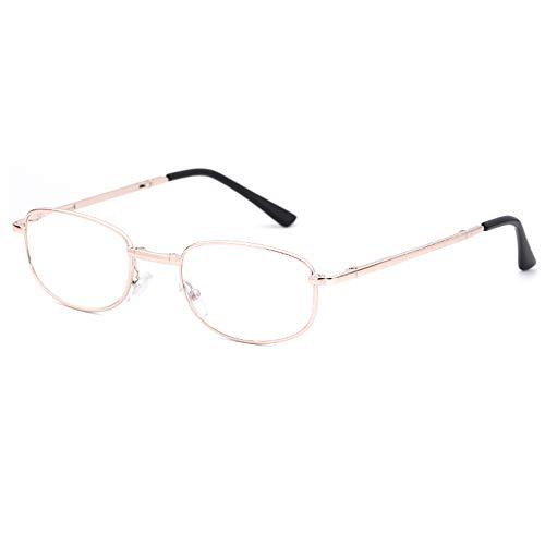 Vouwframe Lezing Glazen Mannelijke High Definition Stralingsbescherming Lenzen Ultra Lichte Draagbare Presbyopie Optische Brillen,+2.50
