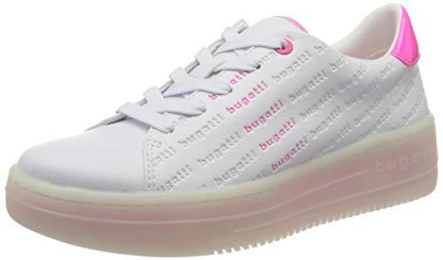 bugatti Damen 432866015057 Sneaker, Weiß (White/Pink 2036), 36 EU