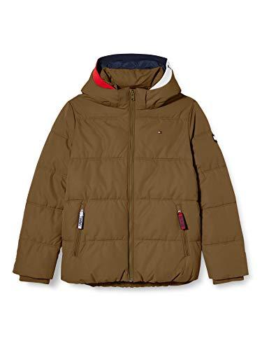 Tommy Hilfiger Jungen Essential Padded Jacket Jacke, Olive Tree, 12