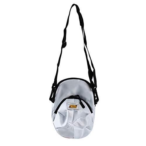 ZALING Hutform Segeltuch Tasche Mini Süß Mode Umhängetasche für Junge Mädchen Weiß