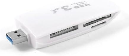 eDealMax USB 3.0 todo en un Lector de tarjetas de Memoria SD MMC Blanca Retangle Shell