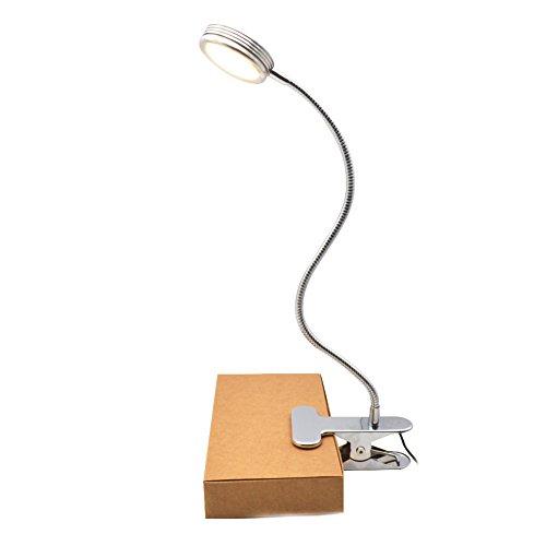Lámpara Flexo LED de Pinza - GreeSuit clip en lámpara de noche lámpara de cuello de cisne flexible cambiable para mesa de lectura, cabecero de cama y computadoras