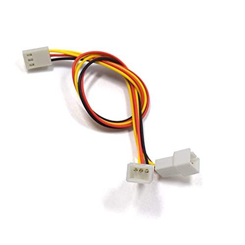 Durable 2 Piezas Cable Conector de Ventilador 12V 3 Pines Hembra a 2/3 Pines Macho CPU PC Cable de extensión del Divisor de energía del Ventilador - (Longitud del Cable: 23 cm) (Color : 23cm)