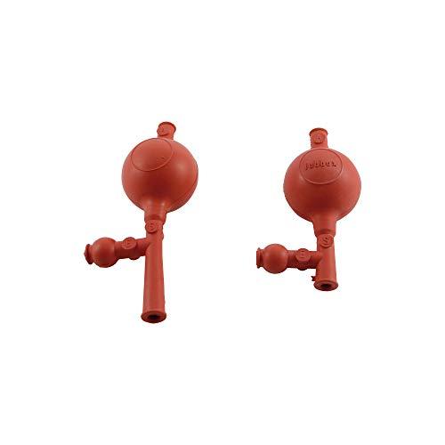 Easy EAS5-002-001 Pera de Goma para Pipetas, 3 válvulas, Larga, Rojo