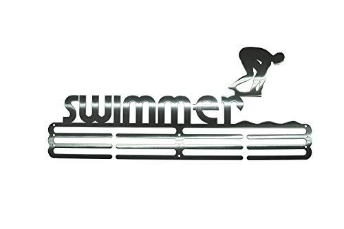 NITTEB Porta Medaglie Nuoto Swimming da Parete | Medaglie Bambini – Accessori Piscina | Medal Display Medagliere – Muro | Appendiabiti per Medaglia Espositore Portamedaglie da Parete Medal Hanger