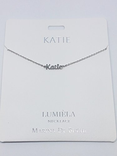 Katie Named Lumeila Necklace Marina De Buchi Silver Colour Presented by Sterling Effectz
