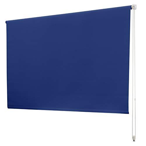 casa pura Verdunkelungsrollo - lichtundurchlässig, thermobeschichtet - Klemmfix, auch ohne Bohren anbringbar - Rollo zur Verdunkelung in vielen Größen und Farben | Marineblau | 60x150cm