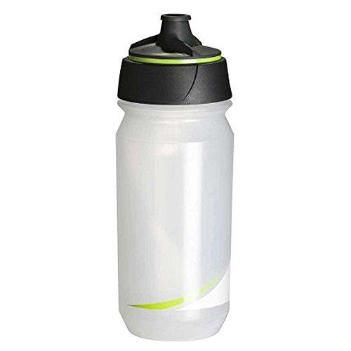 Tacx Trinkflasche Shanti Twist 500 ml mit Membranverschluß, Transparent/Grün, T5881.04
