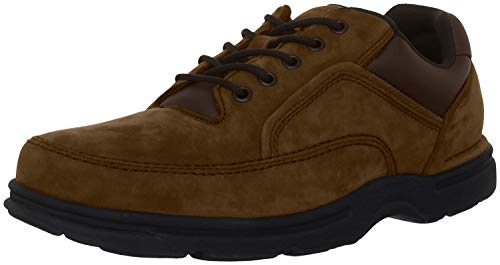 Rockport Men's Eureka Walking Shoe Oxford, Chocolate Nubuck, 12 XW US