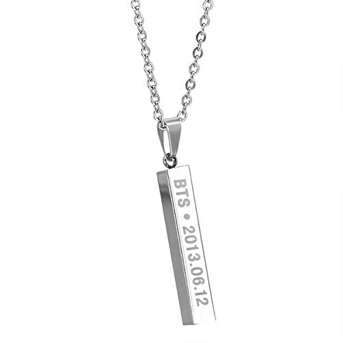 Kpop BTS ARMY Bangtan Boys Necklace with the BTS date engraved