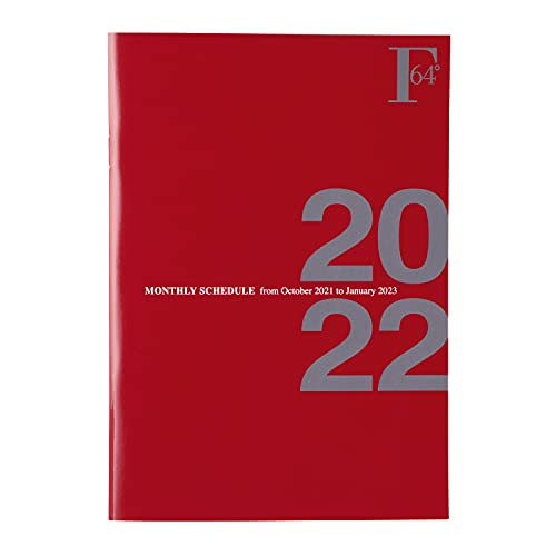 キョクトウ 手帳 2022年 FOBCOOP 2021年10月始まり A5 マンスリー 赤 PBF48DR22
