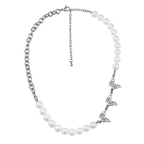 COSYOO Collar De Cadena Unisex Moda Collar De Clavícula Con Cadena De Mariposa Colgante De Collar Con Dijes