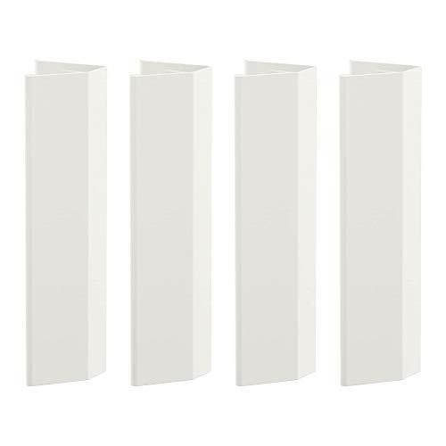 Ikea LATTHET - Juego de 4 asas (13 centímetros), color blanco